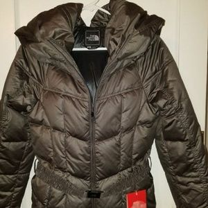 New with Tags - North Face 55O Grey Belted Down Ja